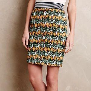 Anthro Corey Lynn Calter pineapple skirt M L 12